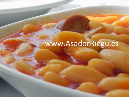 delicioso plato de fabada asturiana